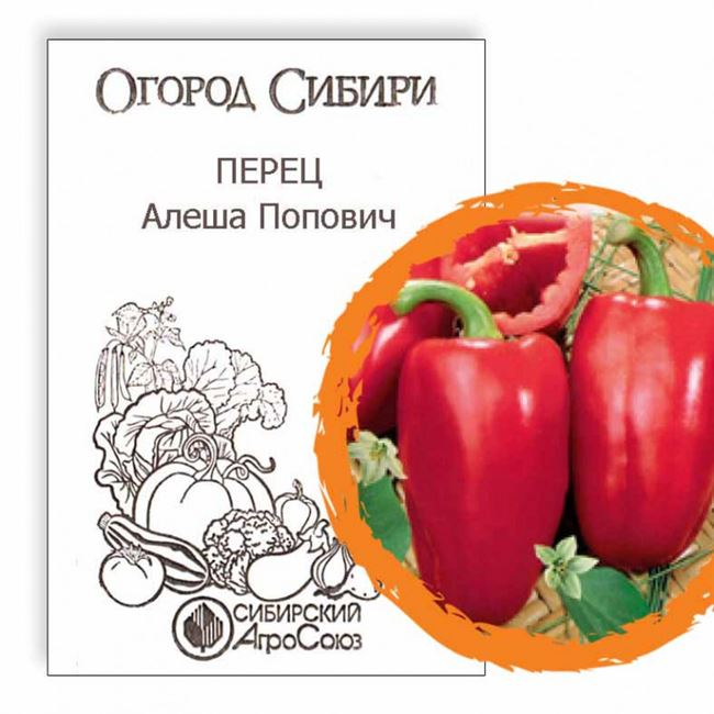 Описание и характеристика перца сорта Алеша Попович, отзывы, фото